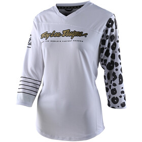 Troy Lee Designs Mischief 3/4 Jerseyaita Naiset, leopard white